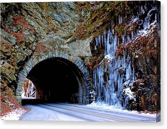 Laurel Creek Road Tunnel Canvas Print