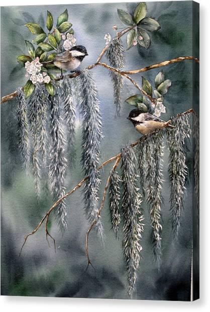 Laurel Meets Moss Canvas Print