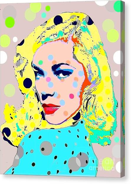 Lauren Bacall Canvas Print by Ricky Sencion