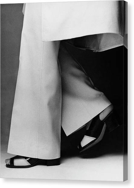 Lauren Hutton's Legs Wearing Calvin Klein Pants Canvas Print by Francesco Scavullo