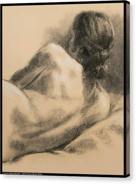 Lauren's Back Muscles Canvas Print