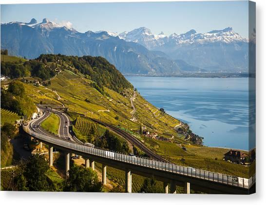 Lausanne To Montreux Canvas Print