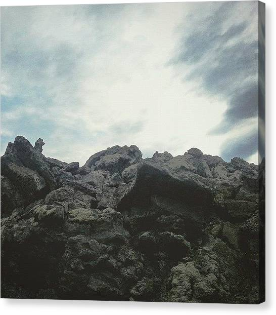 Lava Canvas Print - #lava & Clouds,  #iceland by Alexandra Cook