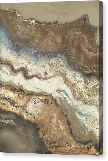 Lava Canvas Print - Lava Flow Panel I by Patricia Pinto