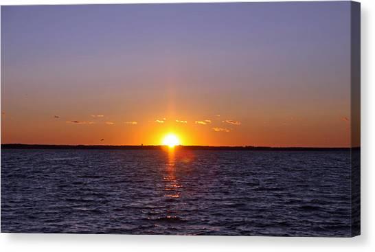 Lavallette Sunset I Canvas Print by Dave Dos Santos