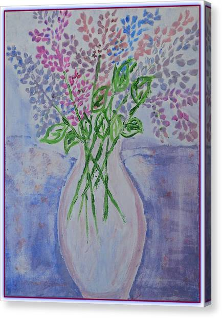 Lavendar  Flowers Canvas Print