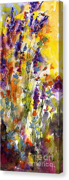 Lavender And Bees Canvas Print