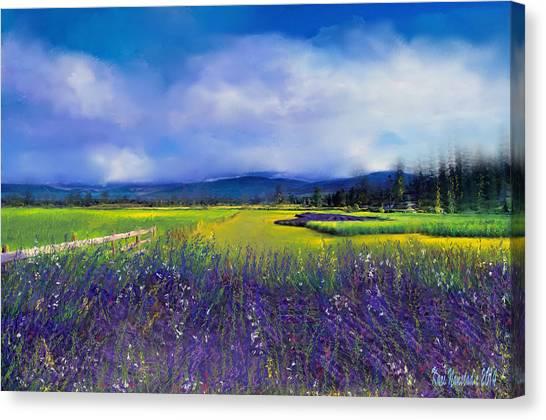 Lavender Blues Canvas Print