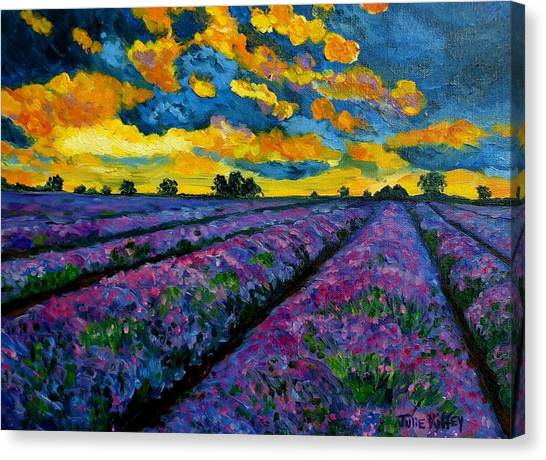 Lavender Fields At Dusk Canvas Print