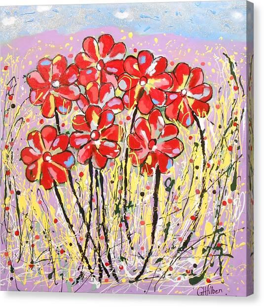 Lavender Flower Garden Canvas Print