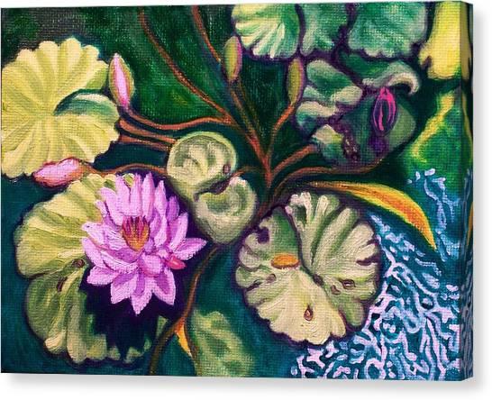 Lavender Lotus Flower Canvas Print