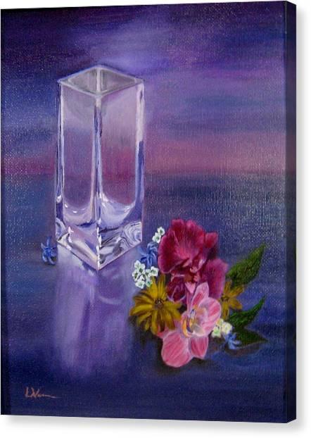 Lavender Vase Canvas Print