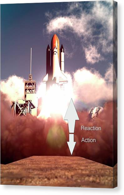 Accelerate Canvas Print - Law Of Action-reaction by Animate4.com/science Photo Libary