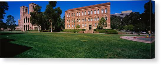 Ucla Canvas Print - Lawn In Front Of A Royce Hall by Panoramic Images