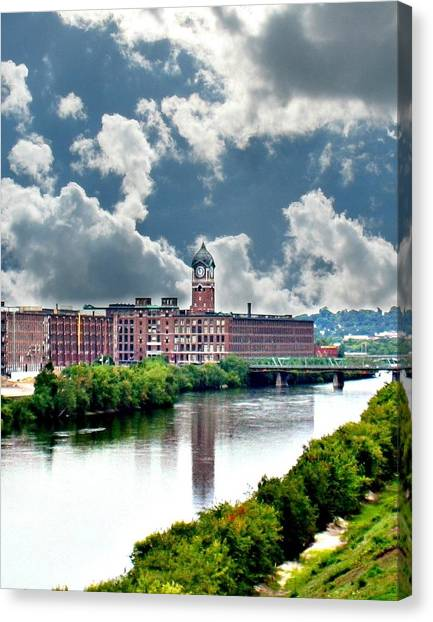 Lawrence Ma Historic Clock Tower Canvas Print