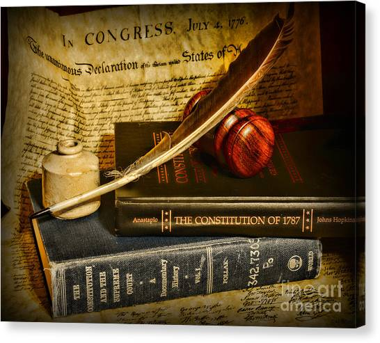 Pac 12 Canvas Print - Lawyer - The Constitutional Lawyer by Paul Ward