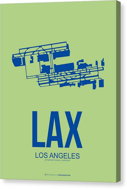 Airplanes Canvas Print - Lax Airport Poster 1 by Naxart Studio