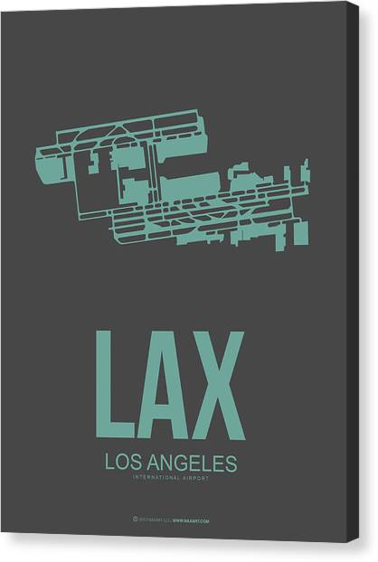 Airports Canvas Print - Lax Airport Poster 2 by Naxart Studio