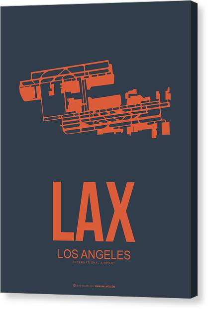 Airports Canvas Print - Lax Airport Poster 3 by Naxart Studio