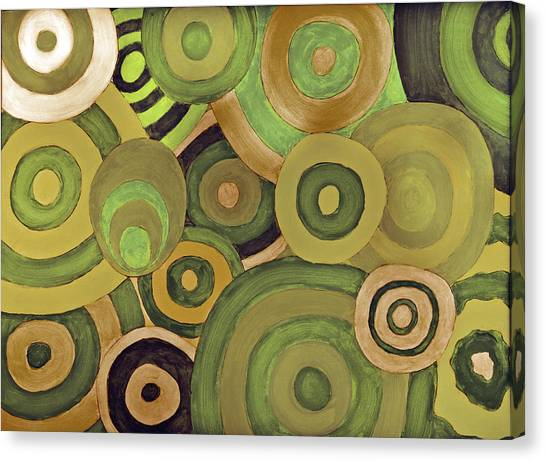 Layered Rings Canvas Print