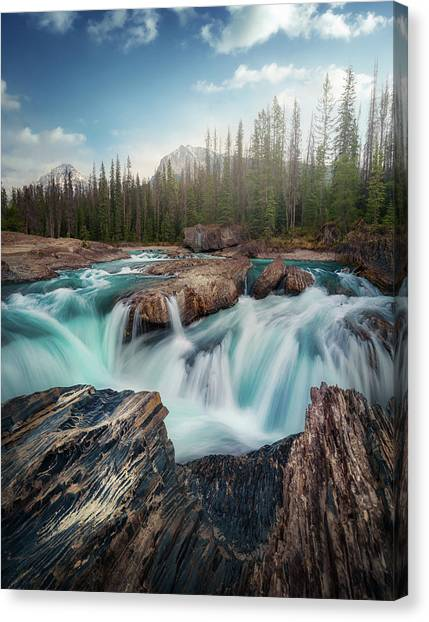Alberta Canvas Print - Layers by Juan Pablo De