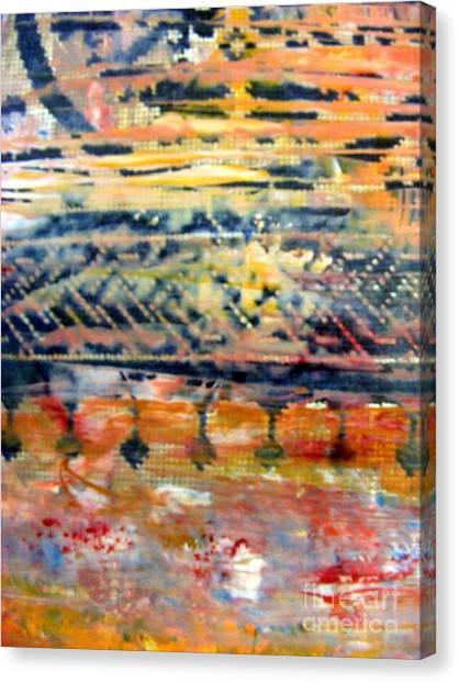 Coptic Art Canvas Print - Layers by Nancy Kane Chapman