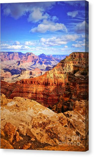 Layers Of The Canyon Canvas Print