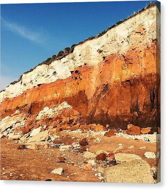 Beach Cliffs Canvas Print - Layers #vscocam by Liam Daly