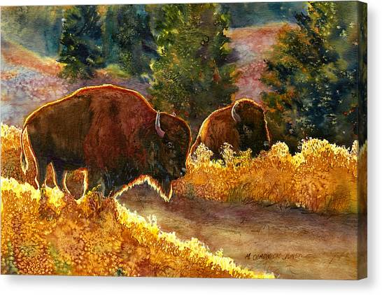 South Dakota Canvas Print - Lazy Afternoon Custer State Park Sd by Marguerite Chadwick-Juner