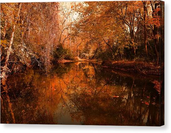Lazy River Autumn Canvas Print