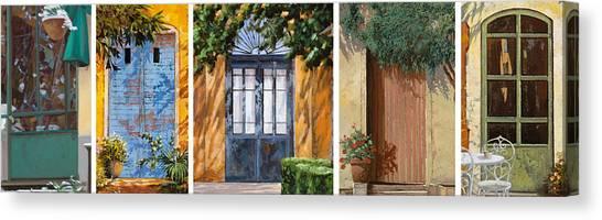 Blue Doors Canvas Print - Le 5 Porte by Guido Borelli