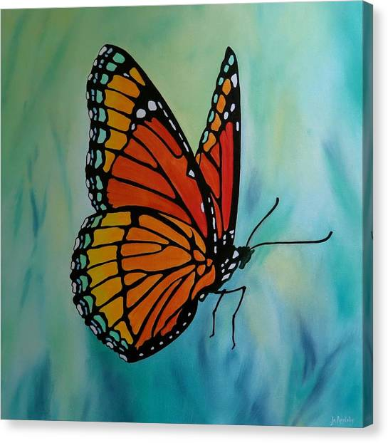 Le Beau Papillon Canvas Print