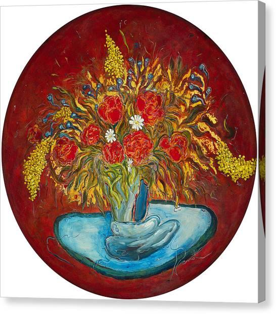 Le Bouquet Rouge - Original For Sale Canvas Print by Bernard RENOT