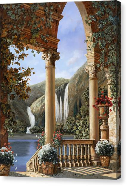 Lake Canvas Print - Le Cascate by Guido Borelli