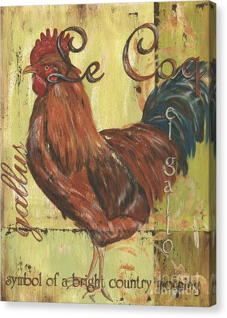 Farmers Canvas Print - Le Coq by Debbie DeWitt