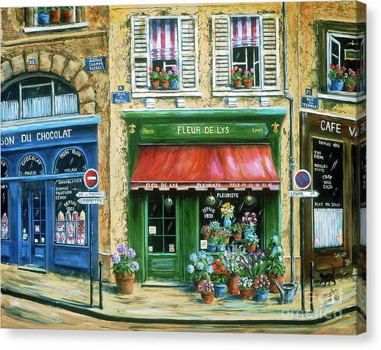 Flower Shop Canvas Print - Le Fleuriste by Marilyn Dunlap