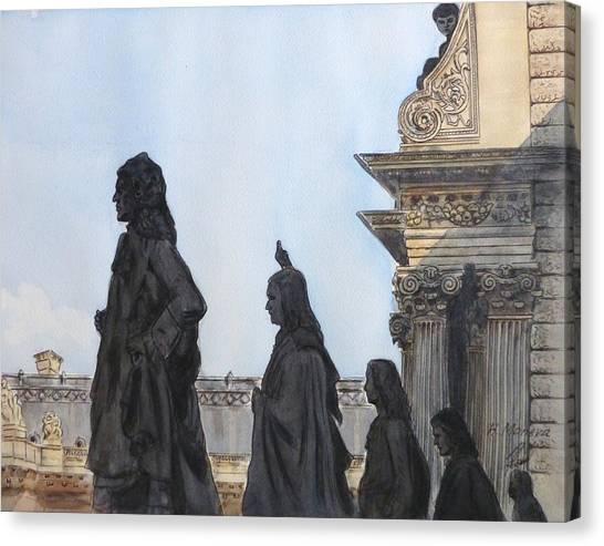 Le Louvre Canvas Print - Le Louvre II by Henrieta Maneva