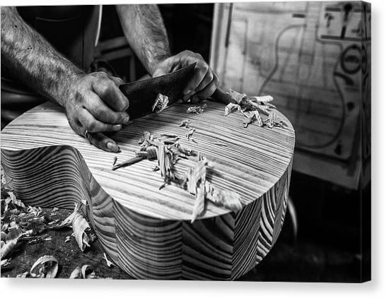 Notre Dame University Canvas Print - Le Luthier by Manu Allicot