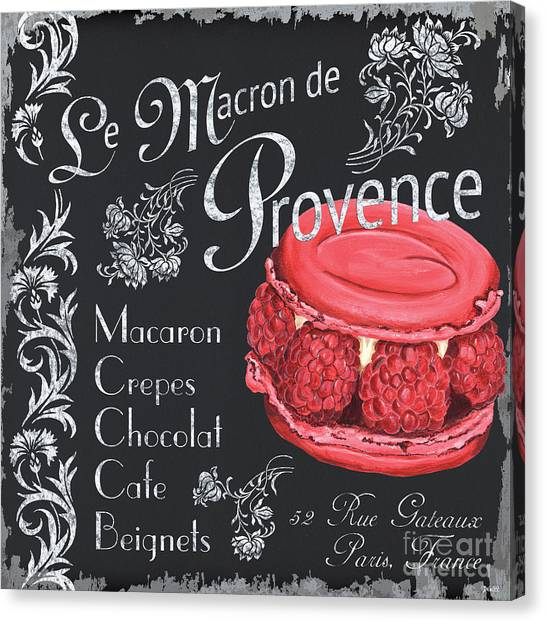Raspberries Canvas Print - Le Macron De Provence by Debbie DeWitt