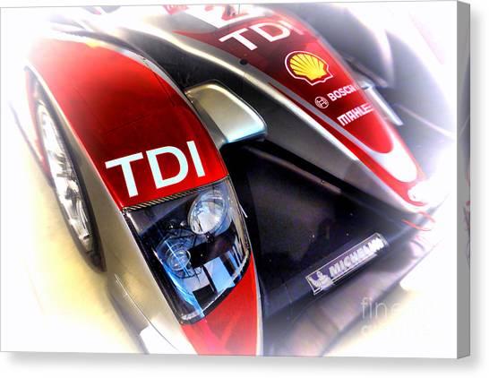 Audi Canvas Print - Le Mans 2008 Audi R10 Tdi by Olivier Le Queinec
