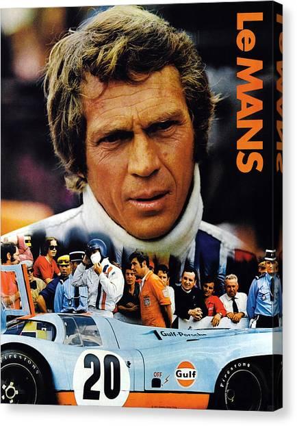 Racecar Drivers Canvas Print - Le Mans, Top Steve Mcqueen by Everett