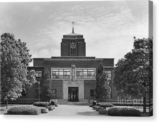 Syracuse University Canvas Print - Le Moyne College Grewen Hall by University Icons