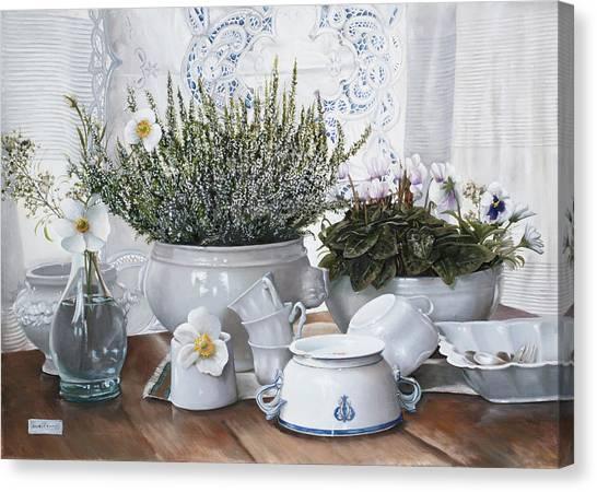 Danish Canvas Print - Le Tazze Rovesciate by Danka Weitzen