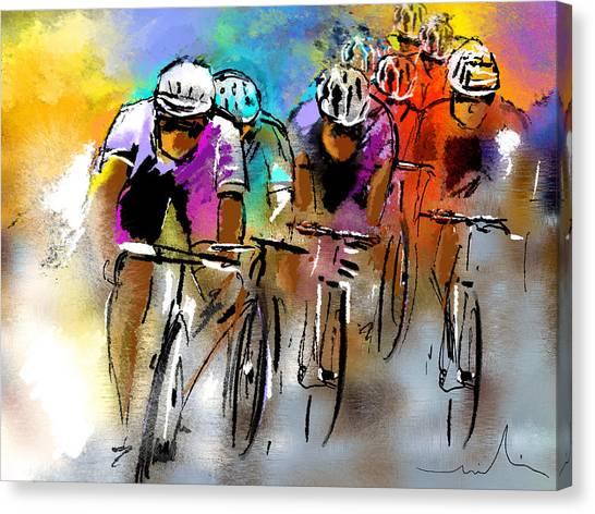 Tour De France Canvas Print - Le Tour De France 03 by Miki De Goodaboom