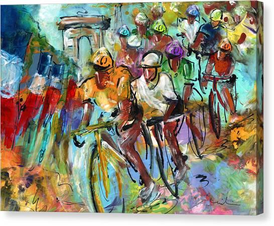 Le Tour De France Madness 02 Canvas Print