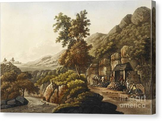 Glaslyn Canvas Print - Lead Mine In Wales, 1798 by British Library