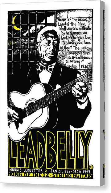 Leadbelly Canvas Print by Ricardo Levins Morales