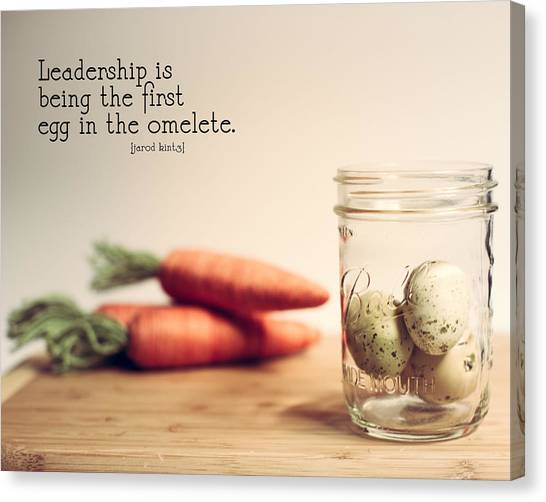Carrots Canvas Print - Leadership Quote 1 by Rebecca Cozart