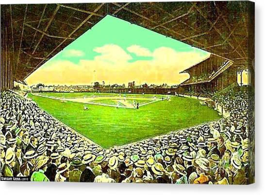 League Park Stadium In Cleveland Oh Around 1915 Canvas Print