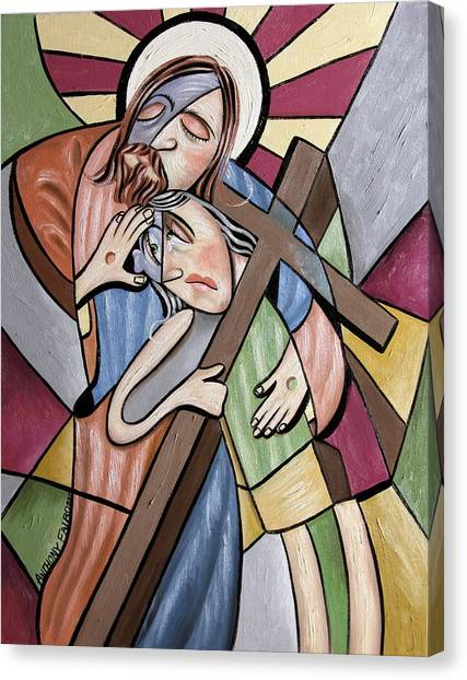 Acrylic On Canvas Print - Lean On Me by Anthony Falbo
